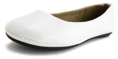 Generation19 Round Toe Classic Ballet Flat Dress Shoes Off White 10 M Us Toddler front-1071160