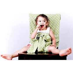 Tie Chair Travel High Chair-Color: Sage Dot