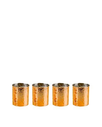 Old Dutch Set of 4 Hammered Copper 12-Oz. Tumblers