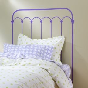 Cheap Kids Wall Decals: Lavender Wrought Iron Headboard Decal (B005OR2552)