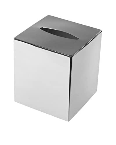Nameek's Nemesia Tissue Box Cover, Chrome