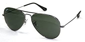 Ray Ban RB3025 Large Aviator Sunglasses - W3236 Gunmetal (G-15XLT Lens) - 55mm