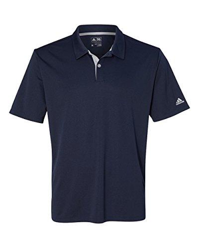アメリカ版モデルadidas(アディダス)ゴルフグラディエント3ストライプスポーツシャツA206紺ネイビー [並行輸入品]