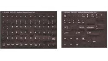 Opaque Dvorak English Keyboard Label / Stickers White Characters On Black Non Transparent Background - Perfect Solution For Fading Characters On Your Keyobard