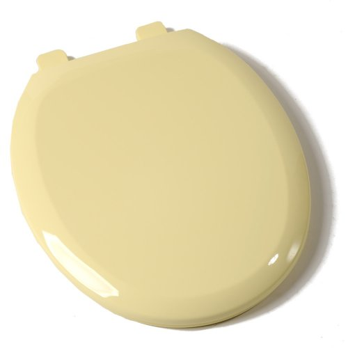 Comfort Seats C1B3R4S-50 EZ Close Deluxe Plastic Toilet Seat, Round, Citron Yellow
