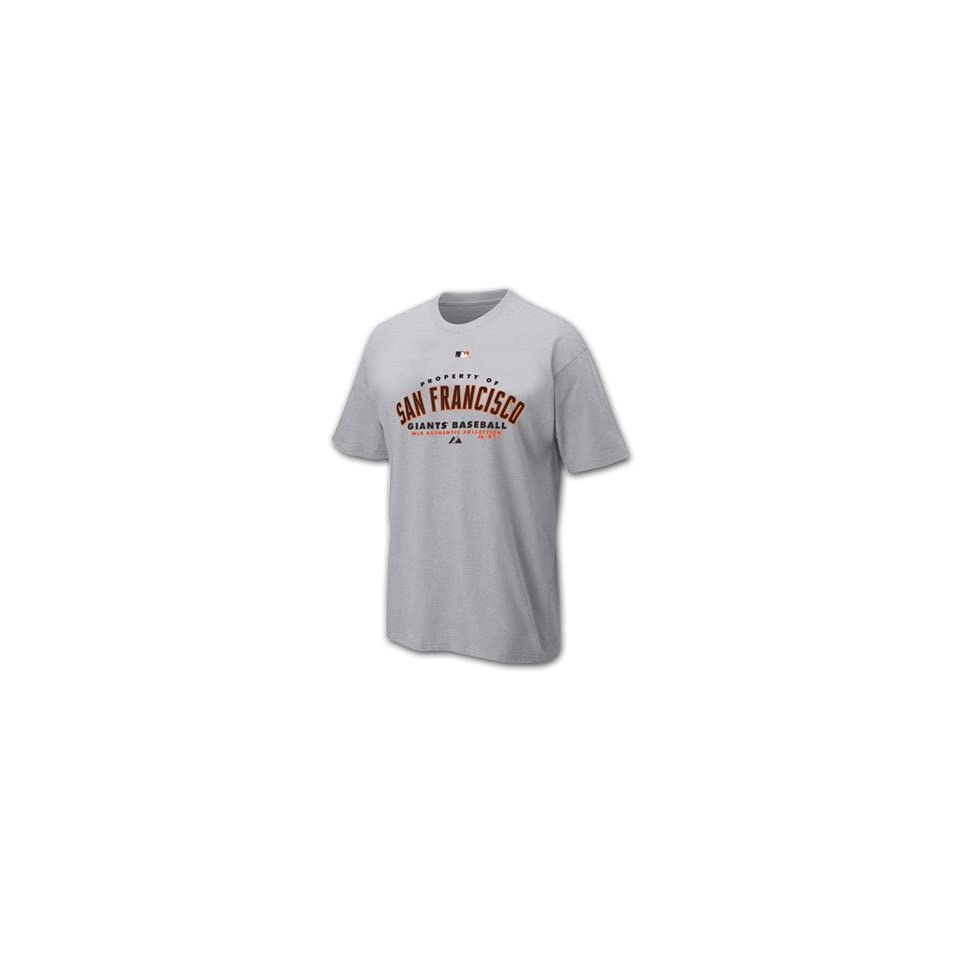 San Francisco Giants Youth MLB Property of Short Sleeve T shirt Sport Gray Youth X Large