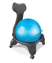 Fauteuil kikka active chair bleu chaise ergonomique for Chaise ballon ergonomique