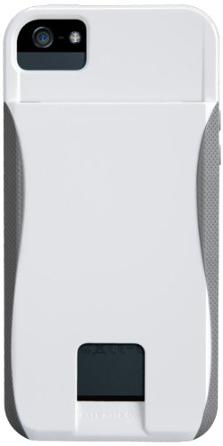 �����ܸ�����ŵ ��ư���������顼�ɻߥ�������°�� Case-Mate iPhone5s / 5 POP! ID Case, White / Titanium Grey �����ɥۥ�����Ĥ� �ϥ��֥�åɡ��ϡ��ɥ����� �ۥ磻�� / �����˥��� ���졼 CM022406