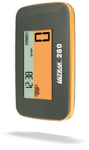 VZI62G Ultrak Pedometer with 3D Motion Sensor, Black