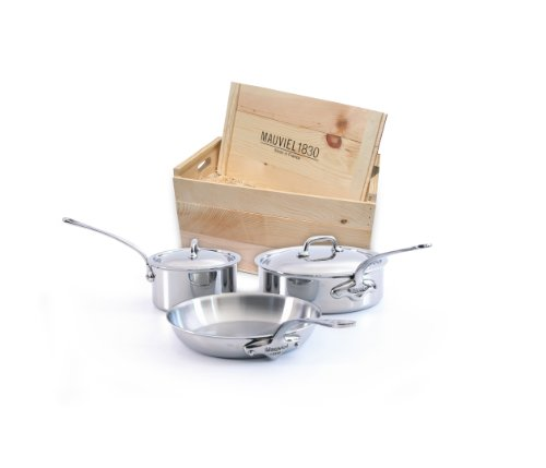 Mauviel M'cook 5210.05wc Crated 5-Piece Set with Cast Stainless Steel Handles