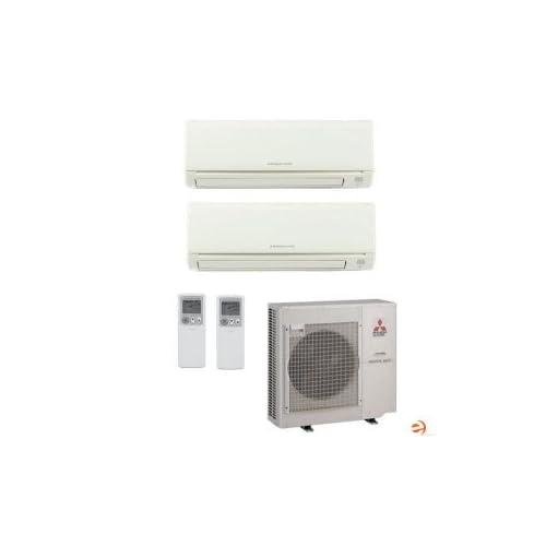 MXZ3B24NA+2xMSZGE12NA Mr. Slim Wall Mounted Dual Zone Mini Split Heat