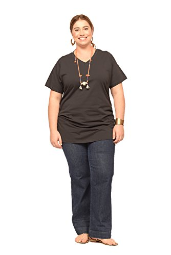 Vanessa Tunic Xxxl In Charcoal front-1036310