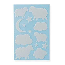 Martha Stewart Crafts White Felt Applique Stickers, Baby