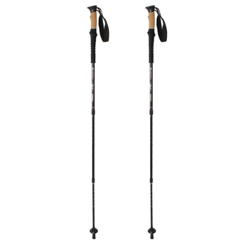 Image® 1 Pair Lightweight Outdoor Mountain Climbing Hiking Walking Trekking Anti Shock Adjustable Trekking Sticks Poles Alpenstock front-735511