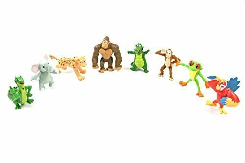 Rainforest Cafe Wild Bunch Animals Action Kids Toys Figurines Complete Set of 8 - Collectible Figures