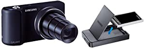 Samsung Galaxy Camera - Cobalt Black (16MP, 21x Optical Zoom, Wi-Fi only) 4.8 inch HD Touch LCD with Battery Charger Kit(variable colour)