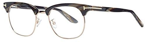 Tom Ford TFT5342 Oval Clubmaster Eyeglasses, 49, Gold/Black Horn (Tom Ford Glasses For Men compare prices)