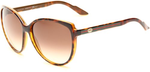 Gucci Women's 3162/S Rectangle Sunglasses,Chocolate