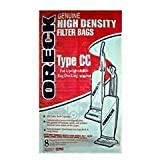 Oreck Part#CCPK8 - Genuine Oreck Type CC Vacuum Bag for Models XL5, XL7, XL21, 2000, 3000, 4000,7000, 8000 and 9000 Series - Only Fits Oreck Uprights with Bag Docking Systems - 8/Package