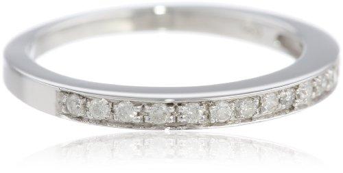 14k White Gold Round Diamond Ring (1/6 cttw, I-J Color, I1-I2 Clarity), Size 7