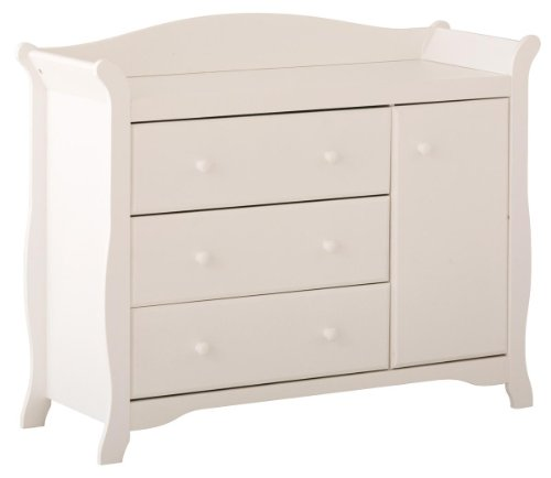 White Changing Table Dresser Combo Creations Baby