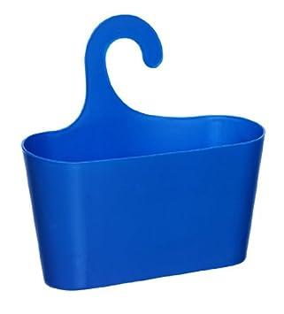 wohnideenshop duschkorb mit haken zum einh ngen blau und 11 anderen farben zum ausw hlen us262. Black Bedroom Furniture Sets. Home Design Ideas