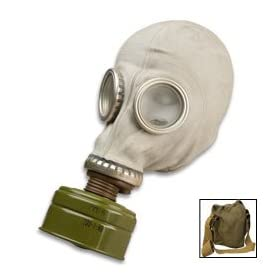 Sturm Military Surplus Gas Mask with Filter and Bag - Russian SMS by BUD K