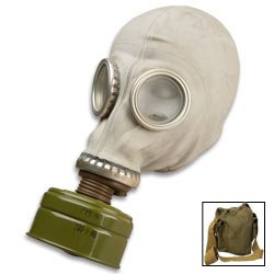 Sturm Military Surplus Gas Mask with Filter and Bag - Russian SMS