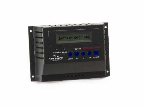 Gsm Cyc-Solc30A 30 Amp Solar Charge Controller, Black