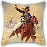 Beautifulseason Oil Painting William Robinson Leigh - The Roping Pillow Shams 20 X 20 Inches / 50 By 50 Cm Best Choice For Husband,coffee House,couples,christmas,kitchen With 2 Sides (Gold Emblem Gummy Bears compare prices)