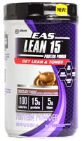 EAS Lean 15 Protein Powder, Chocolate Fudge, 1.7 Pound