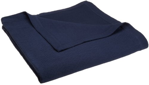 Peacock Alley Bradley Coverlet, Twin, Navy front-236103