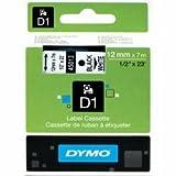 Newell rubbermaid S0720530 - DYMO D1 Tape 12mm Black on white
