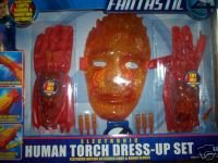 Marvel Fantastic Four Electronic Human Torch Dres-Up Set Featuring Motion Activated Light & Sound Gloves