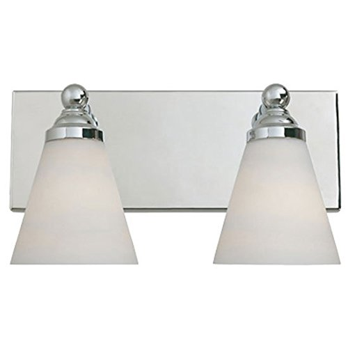 Designers Fountain 6492-Ch Hudson Collection 2-Light Wall Sconce, Chrome Finish With White Opal Glass front-989748
