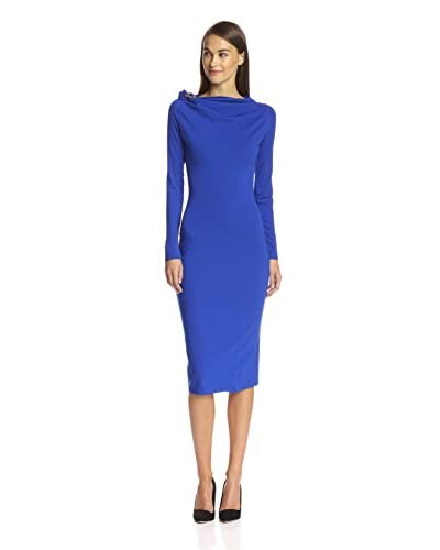 Gracia Women's Midi Dress with Brooch