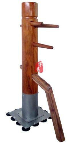 吸盤鉄板木人椿 ブルース・リー(李小龍)ジークンドー 木人[木庄]サンドバッグ(木製) メルバウ 高さ 170cm