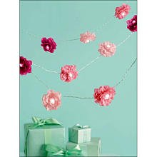 Martha Stewart Crafts Garland, Pink Lighted Camellia