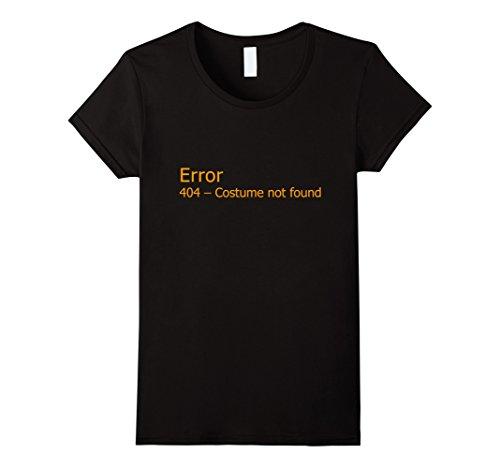 [Women's Error 404 Halloween Costume Not Found T-Shirt Medium Black] (Costume Not Found 404)