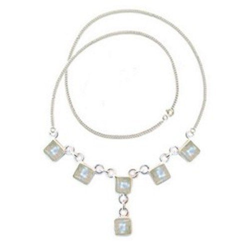 Sterling Silver & MOONSTONE Necklace (N2113MOO)