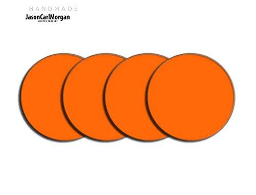 Telecommande JCM Jante en alliage Bouchon Badges pour SAAB FORD BMW (CLR 60 mm, Orange