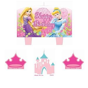 Disney Princess Cake Candle Set (4pc)