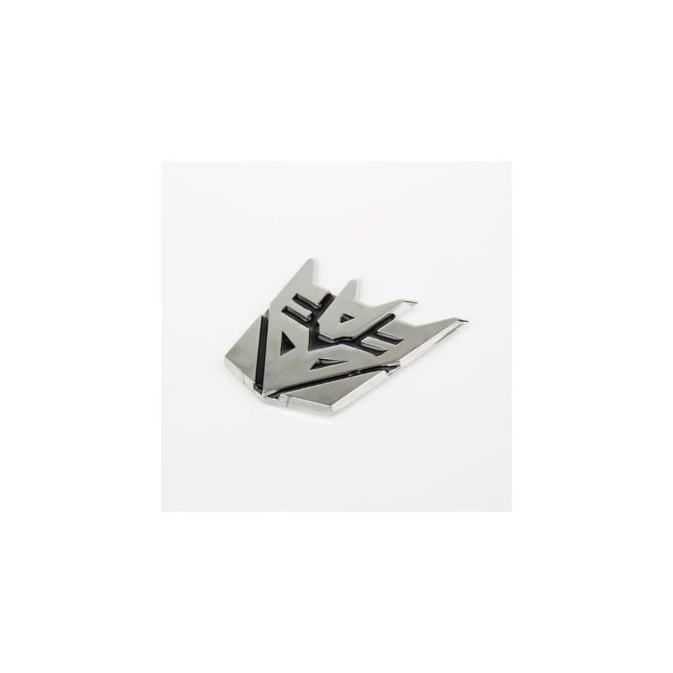 Transformers Decepticon 3D Chrome Car Auto Badge Emblem