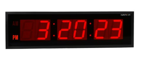 DBTech 0136RED Huge Large Big 36 Inch Oversized Digital LED Clock, Red