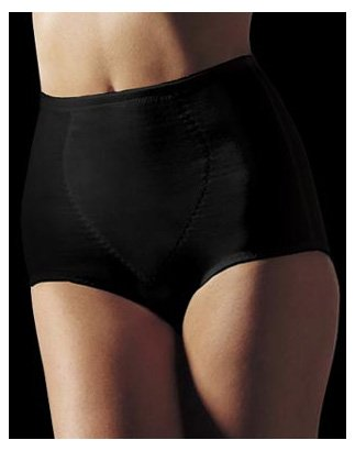 Bali Women's Moderate Control Tummy Panel Brief, Black, Medium