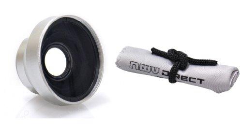 Optics 3.0X High Definition, Super Telephoto Lens For Canon Vixia Hf10 & Vixia Hf20 (37Mm) + Nwv Direct Microfiber Cleaning Cloth