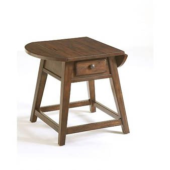 Cheap Broyhill Attic Heirlooms Leg End Table in Rustic Oak (3399-05)
