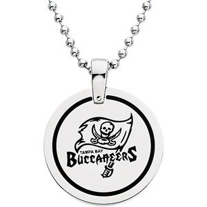 Stainless Steel Tampa Bay Buccaneers NFL Football Team Round Disc Pendant Necklace 27