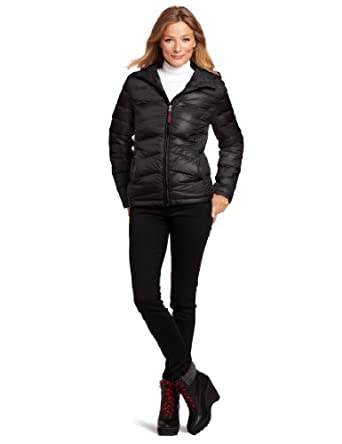 Tommy Hilfiger Women's Packable Down Jacket with Hood, Black, X-Small