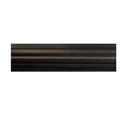 BEME International 1-3/4-Inch Diameter Fluted Wood Drapery Rod, 96-Inch, Mink